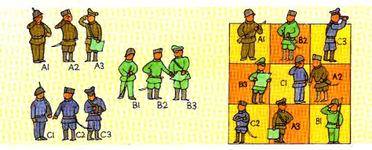 tres soldados