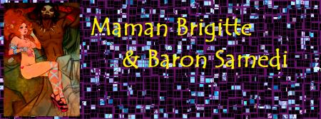 Maman Brigitte y Baron Samedi (arte de  Ula Fish)