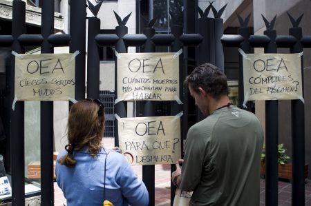 """OPOSITORES EXIGEN A LA OEA UNA REACCIÓN """"FIRME"""" SOBRE VENEZUELA"""